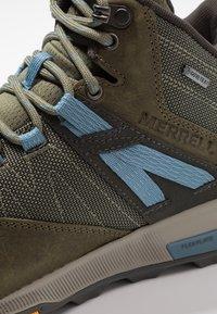 Merrell - ZION MID GTX - Hiking shoes - dark olive - 5