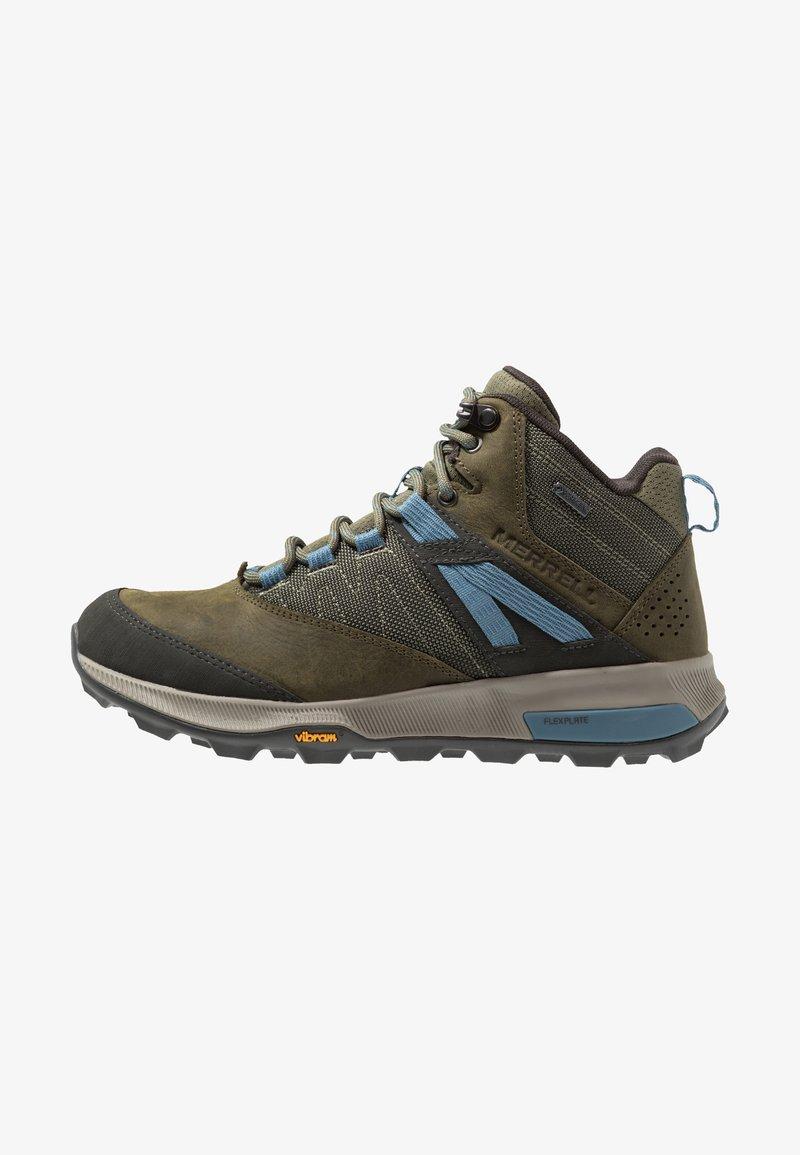 Merrell - ZION MID GTX - Hiking shoes - dark olive