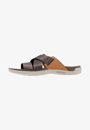 DISTRICT MAYA SLIDE - Outdoorsandalen - brown