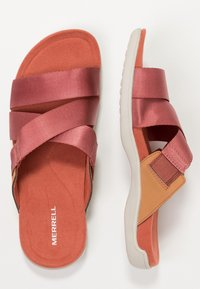 Merrell - DISTRICT MAYA SLIDE - Outdoorsandalen - redwood