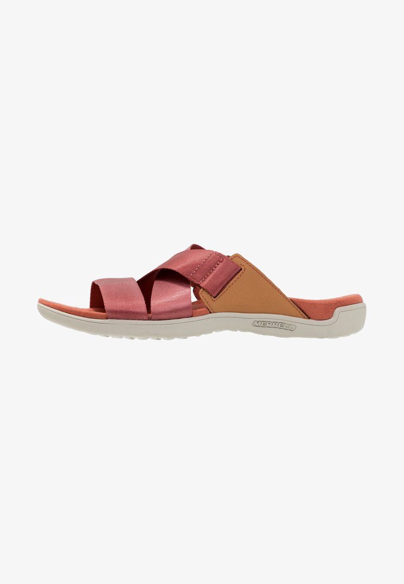 Merrell - DISTRICT MAYA SLIDE - Walking sandals - redwood
