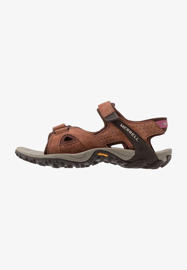 KAHUNA 4 STRAP - Walking sandals - choc