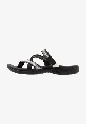 DISTRICT MENDI THONG - Sandaler m/ tåsplit - black