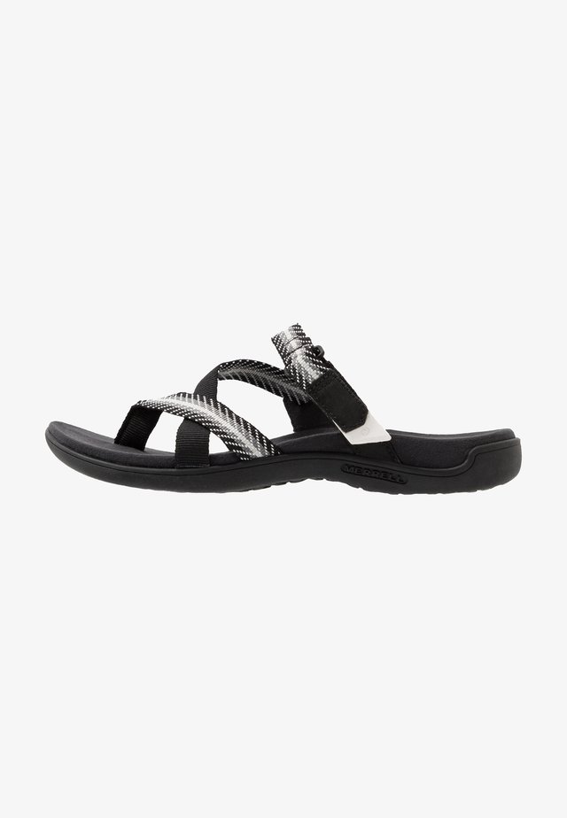 DISTRICT MENDI THONG - Flip Flops - black