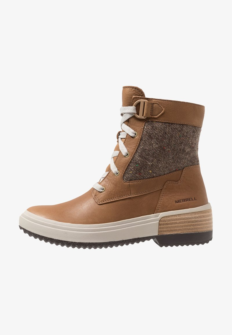 Merrell - HAVEN MID LACE WP - Winter boots - tobacco