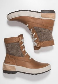 Merrell - HAVEN MID LACE WP - Winter boots - tobacco - 1