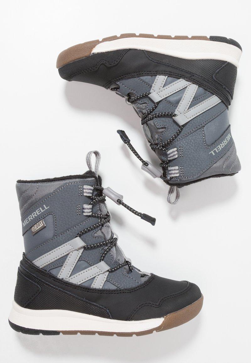 Merrell - M-SNOW CRUSH WTRPF - Snowboots  - grey/black