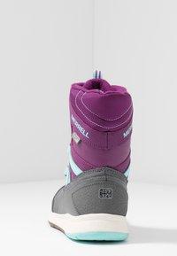 Merrell - SNOW CRUSH WTRPF - Talvisaappaat - purple/turq - 4