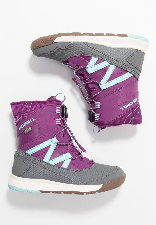 SNOW CRUSH WTRPF - Snowboots  - purple/turq