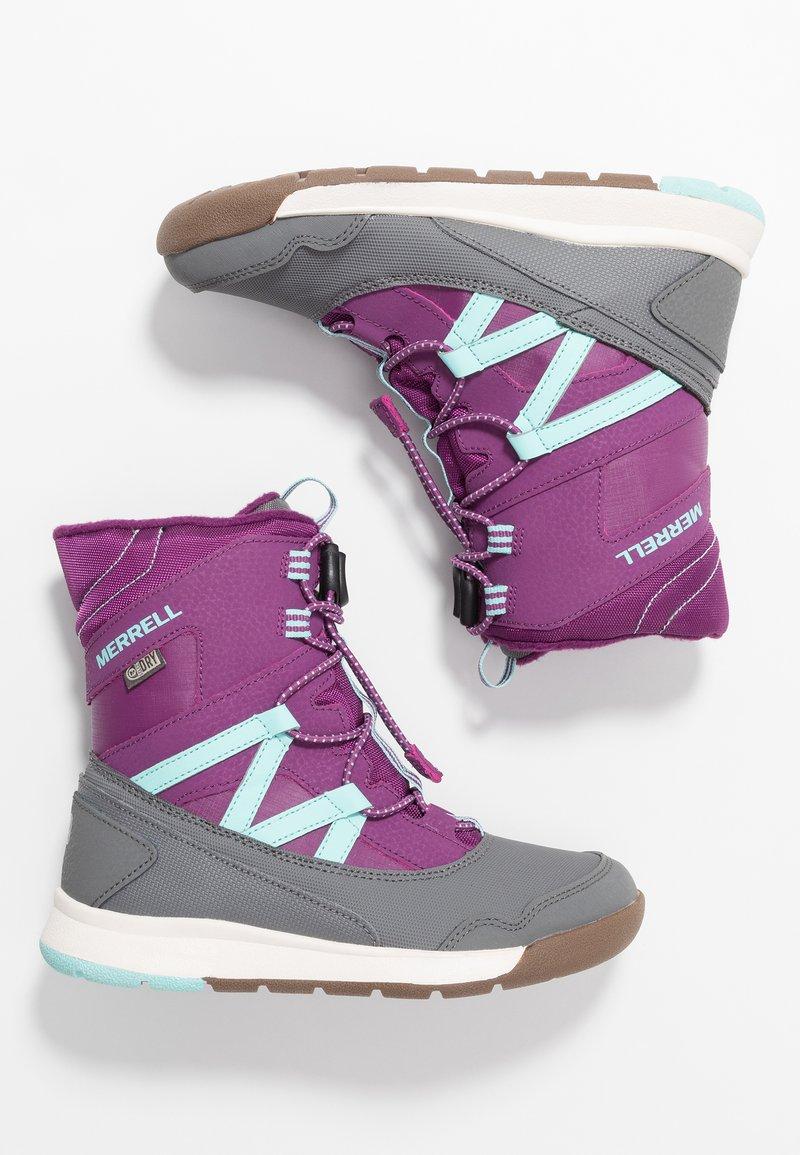 Merrell - SNOW CRUSH WTRPF - Talvisaappaat - purple/turq