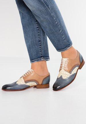 SALLY - Oksfordki - grafi/vegas moroccan blue/make up/silver blue/bronze/white