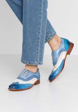 AMELIE  - Šněrovací boty - neptune blue/white/maroccan blue