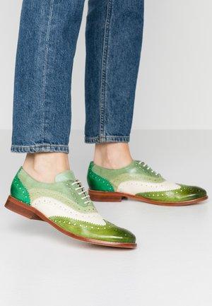 AMELIE  - Oksfordki - ultragreen/white/mint green/algae/electric green