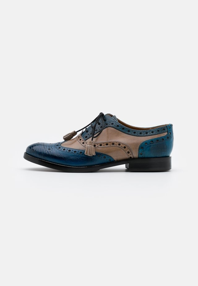 AMELIE - Derbies - guanna bluette/crust oxygen/phyton wind/flex burgundy