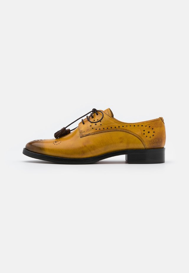 BETTY  - Derbies - indy yellow/burgundy