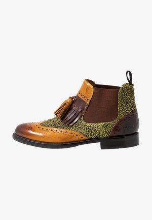 SELINA - Ankle boots - ochra/mogano