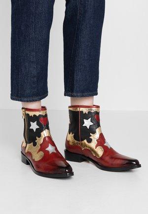 MARLIN - Cowboystøvletter - ruby