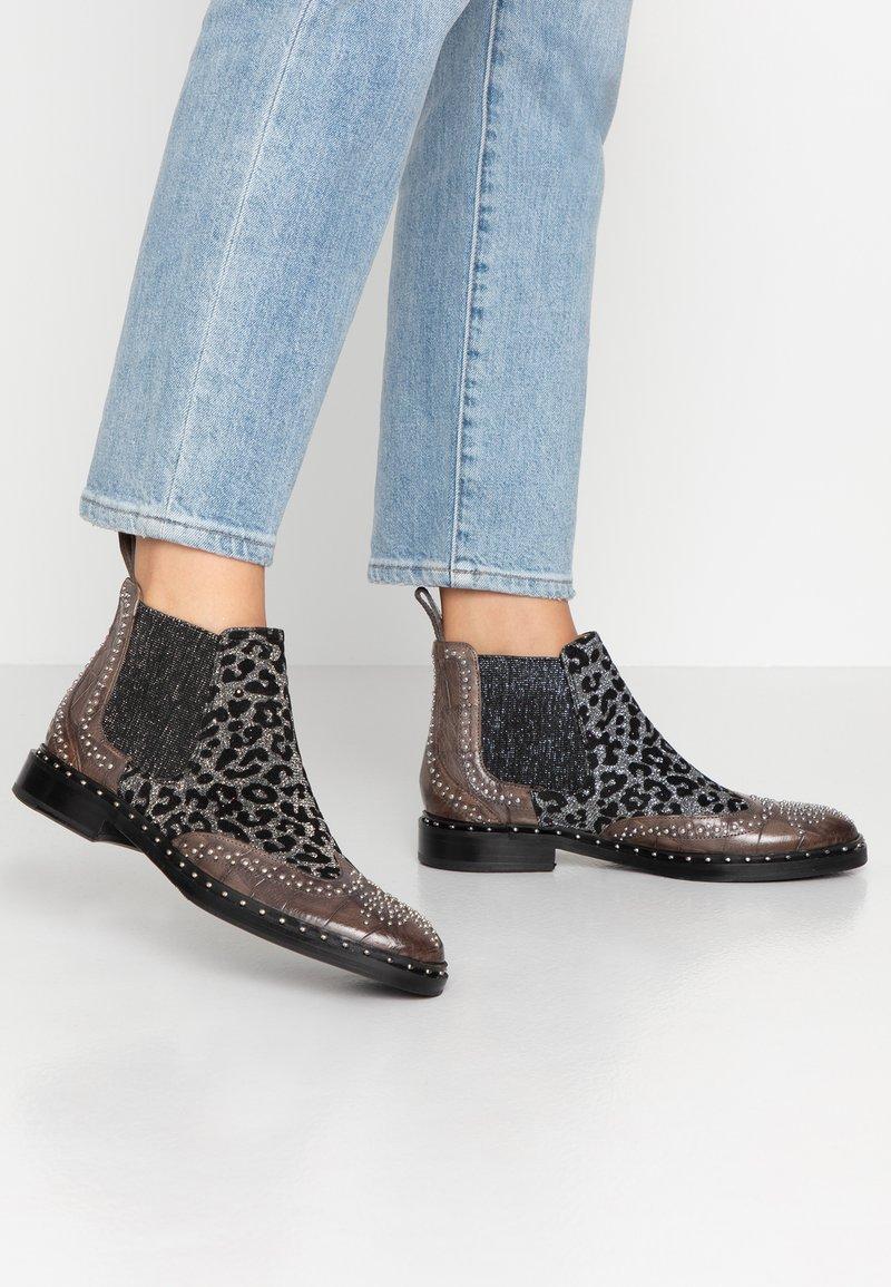 Melvin & Hamilton - SALLY  - Ankle Boot - grigio/glitter/black/rich tan