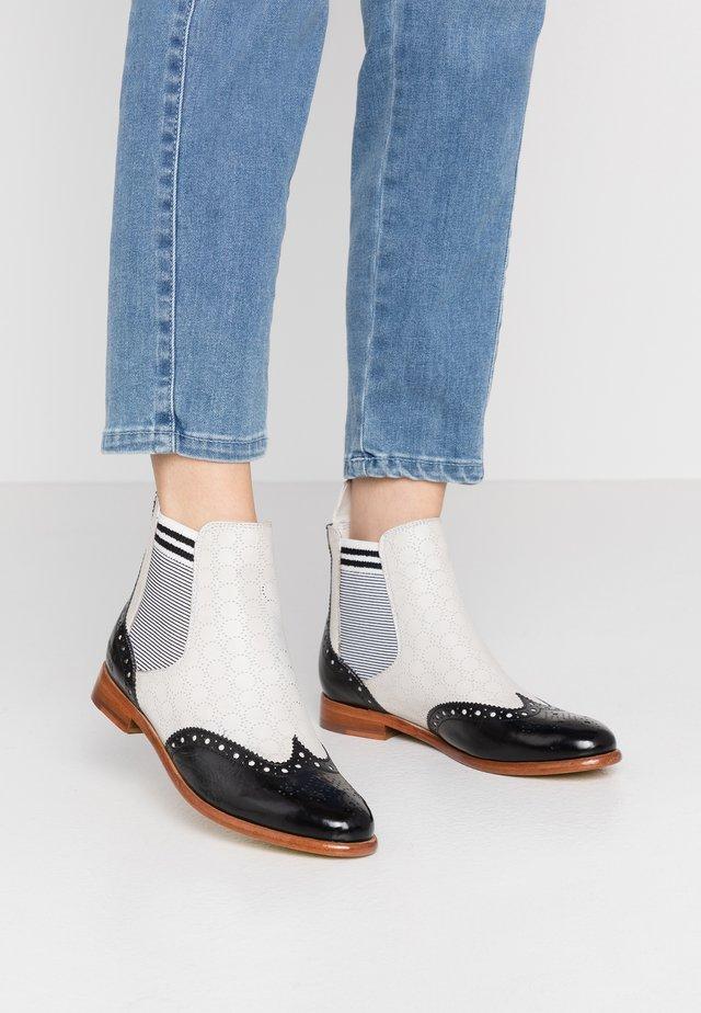 SELINA  - Ankle boot - black/white
