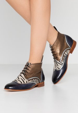 SALLY  - Šněrovací kotníkové boty - london fog silver/bronze