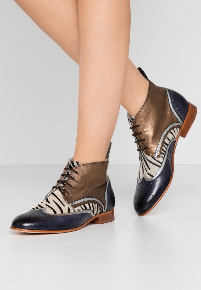 SALLY  - Lace-up ankle boots - london fog silver/bronze