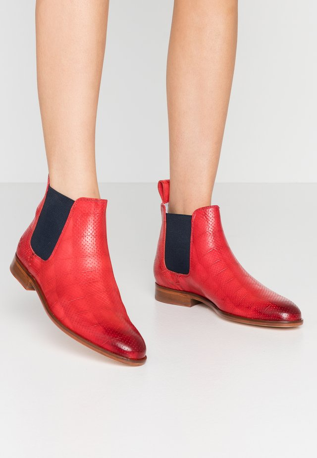 SUSAN - Ankle boot - ruby/navy