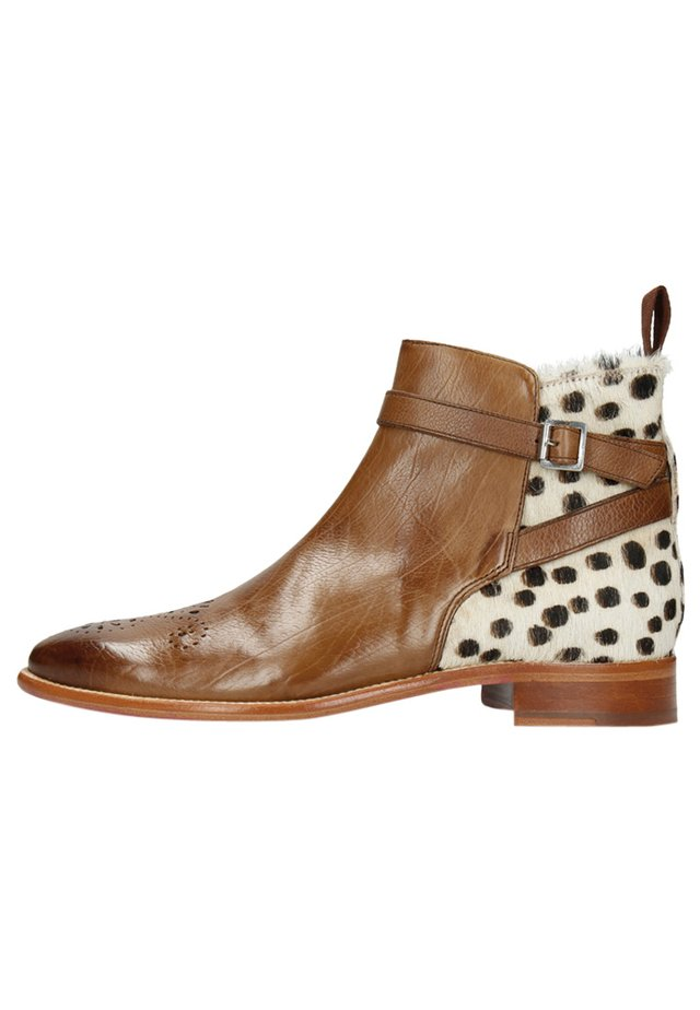 Ankle boots - midbrown hairon wildcat