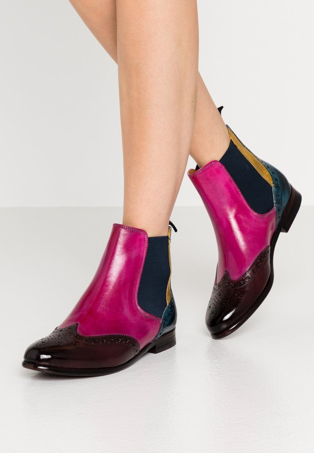 SELINA  - Ankelboots - mulberry/pink/indy yellow/ice lake/navy/rich tan