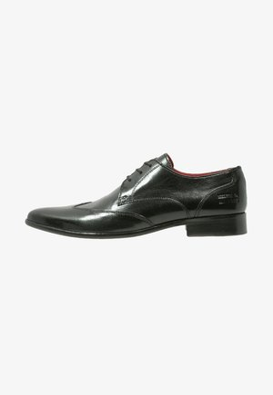TONI - Elegantní šněrovací boty - black