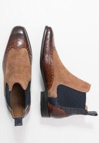 Melvin & Hamilton - RICO - Bottines - mid brown/cognac/navy/rich tan - 1