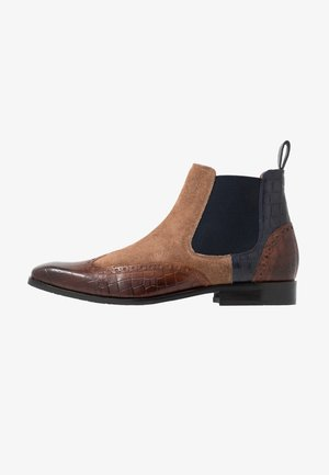 RICO - Classic ankle boots - mid brown/cognac/navy/rich tan