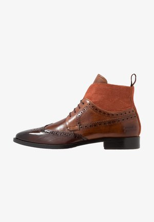 JEFF - Botines con cordones - mid brown/wood/tan/rust/rich tan/brown