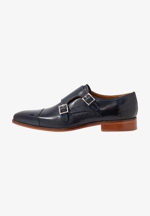 LANCE - Elegantní nazouvací boty - navy