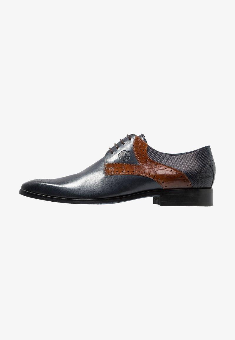 Melvin & Hamilton - RICO - Smart lace-ups - navy/mid brown