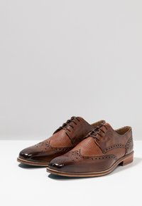 Melvin & Hamilton - MARTIN - Elegantní šněrovací boty - mid brown/wood/brown - 2