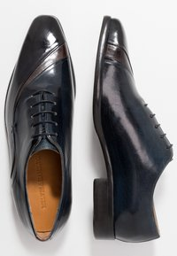 Melvin & Hamilton - LANCE - Derbies - stone/rich tan/navy - 1