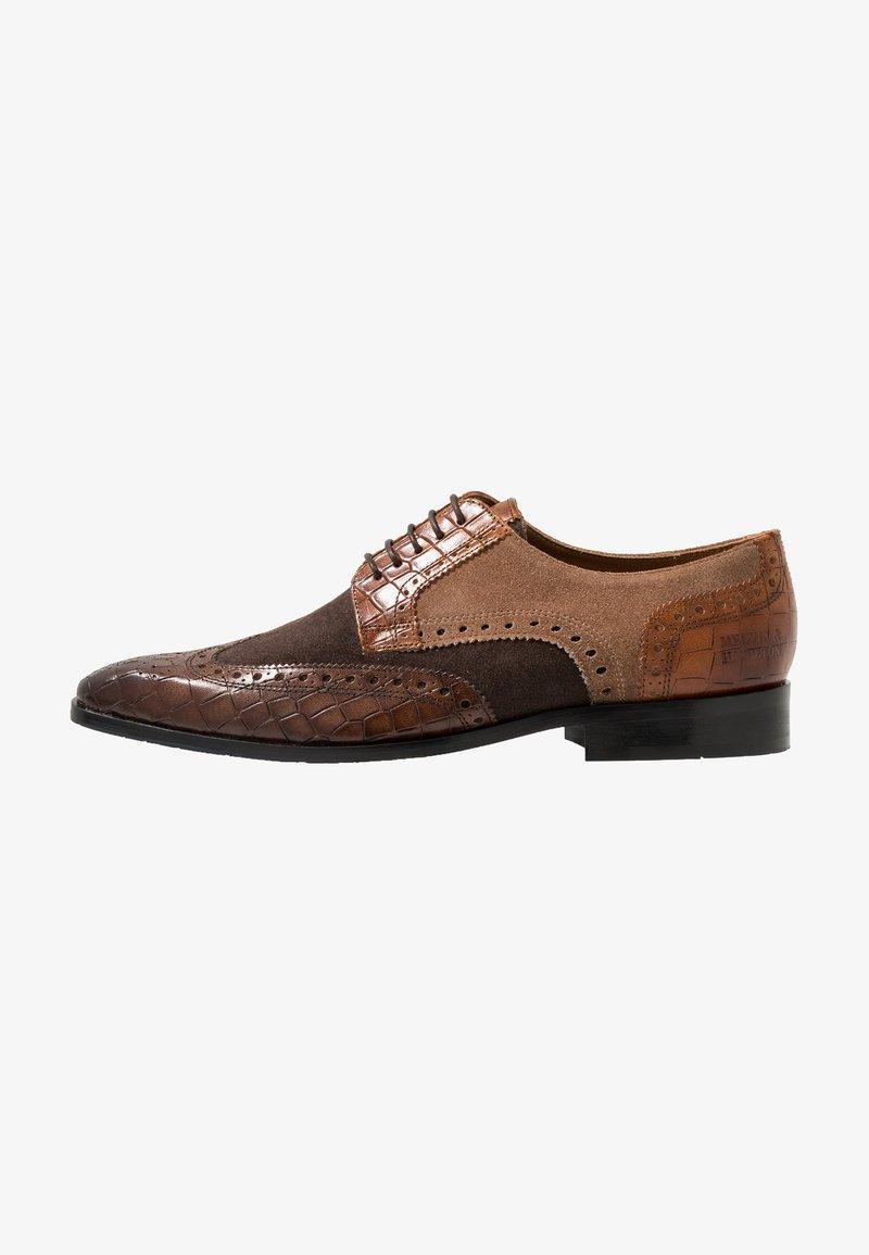 Melvin & Hamilton - RICO - Derbies - venice crock/dark brown/brown/cognac/wood/rich tan/navy