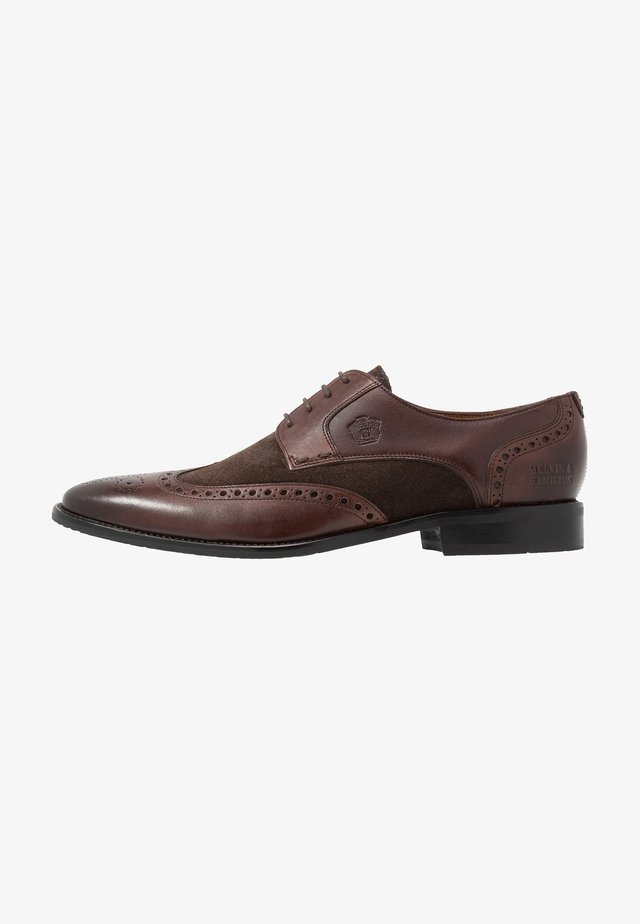 Smart lace-ups - mogano/brown/rich tan/navy