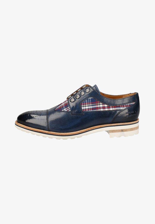 Sznurowane obuwie sportowe - navy / multi