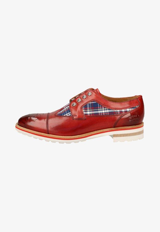 Sznurowane obuwie sportowe - ruby / multi