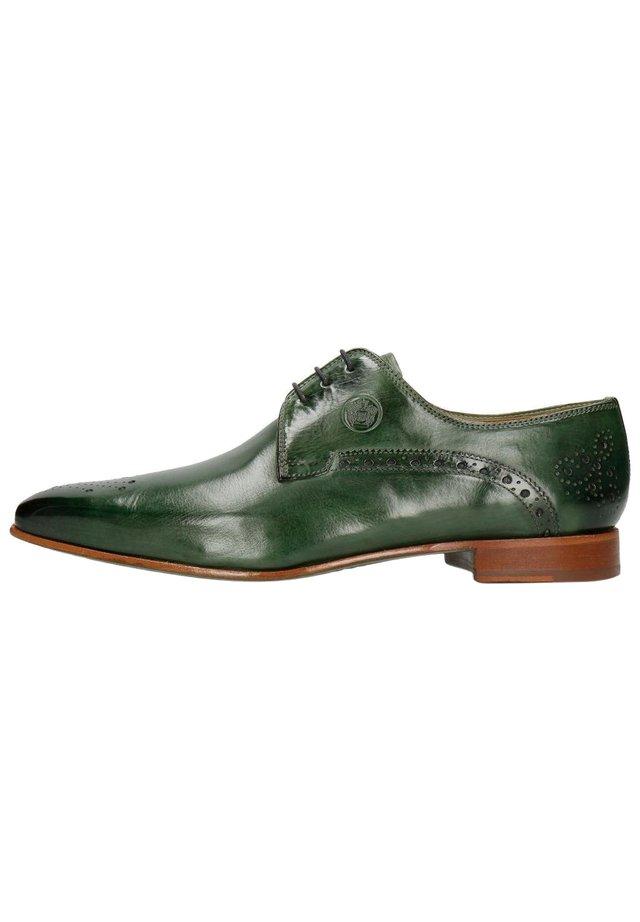 KRIS 2 PRATO-42 - Smart lace-ups - green