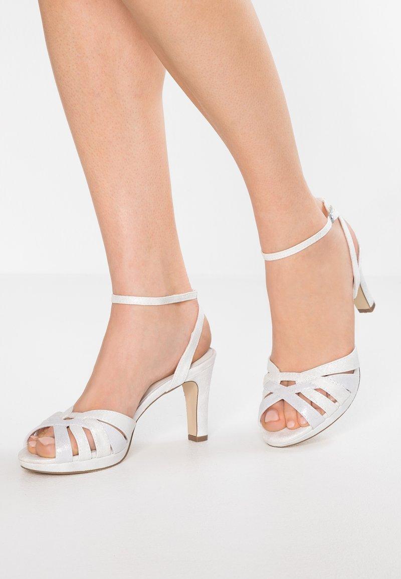 Menbur - Sandály na vysokém podpatku - ivory