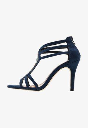 Sandalen met hoge hak - midnight blue