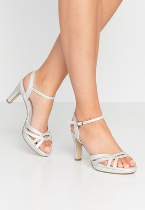 High heeled sandals - marfil