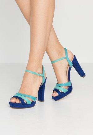 High heeled sandals - dazzling blue
