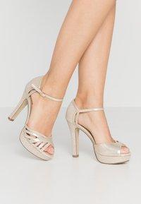 Menbur - Peeptoe heels - gold - 0