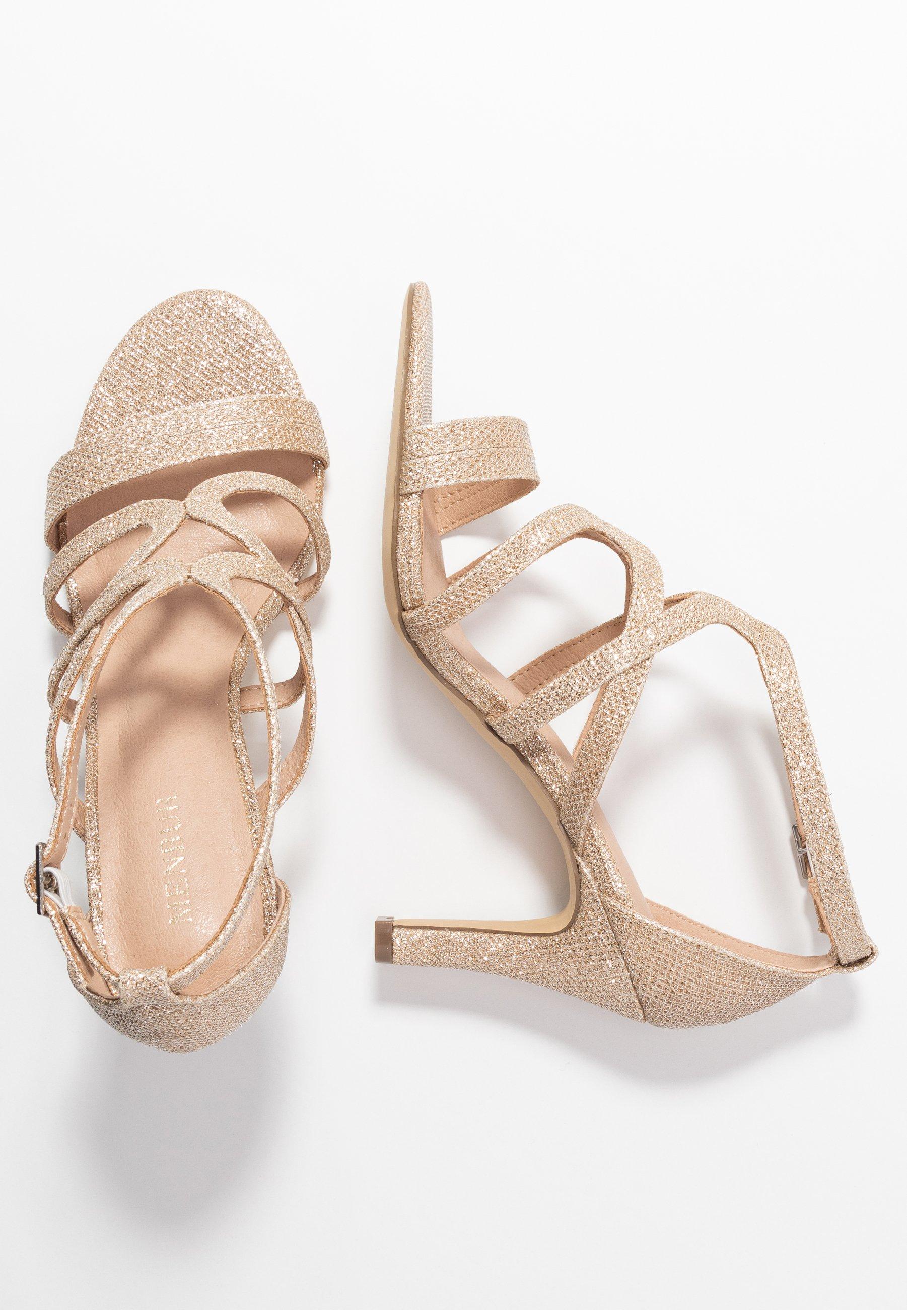Menbur Højhælede sandaletter / Højhælede sandaler - stone