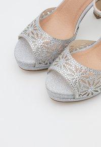 Menbur - High heeled sandals - silver - 5