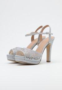 Menbur - High heeled sandals - silver - 2