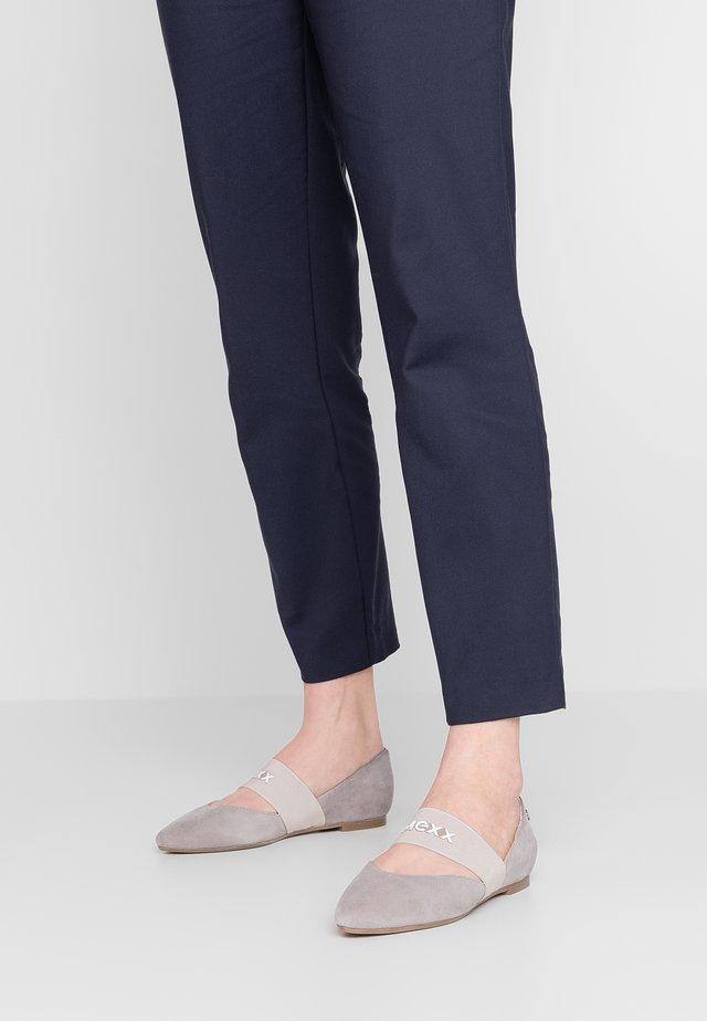 CATARINA - Ankle strap ballet pumps - light grey